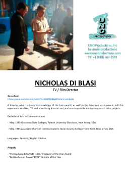 nicholas di blasi - UNO PRODUCTIONS INC