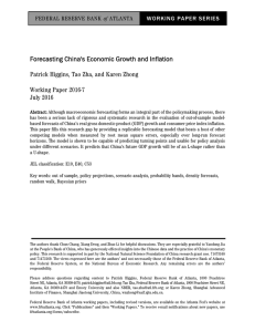 Forecasting China`s Economic Growth and Inflation