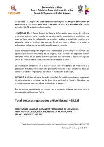 Total de Casos registrados a Nivel Estatal =25926