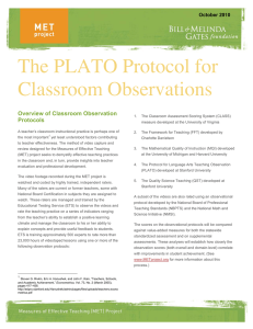 Protocol for Language Arts Teaching Observations - K