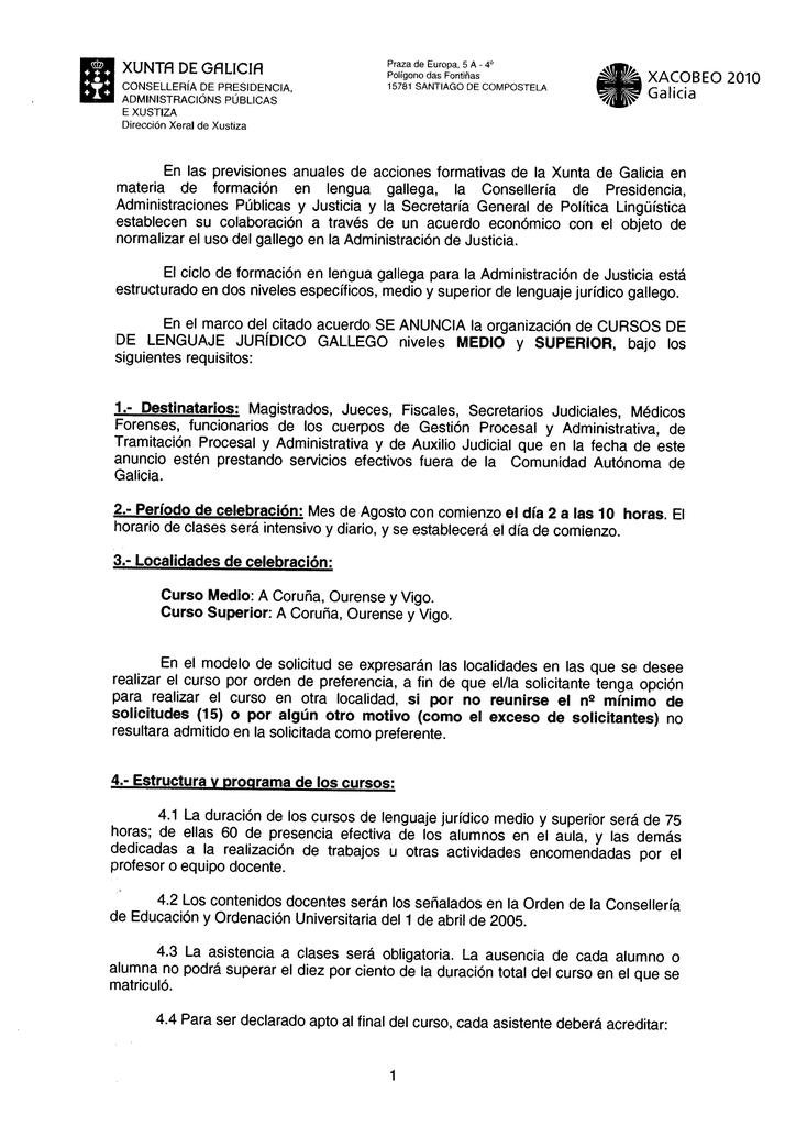 Xunta De Galicia En Las Previsiones Anuales De Acciones