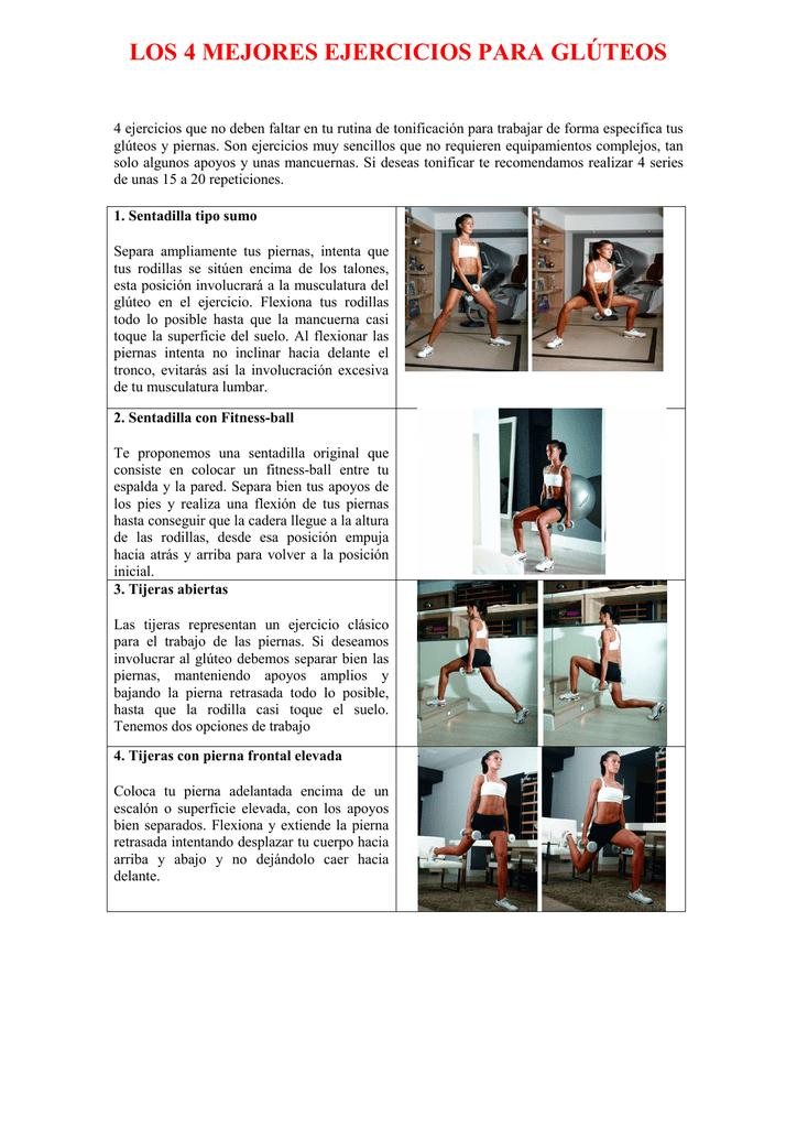 4 ejercicios para gluteos y piernas