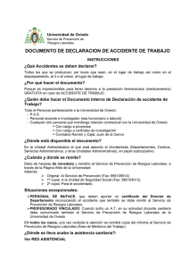 documento de declaracion de accidente de trabajo