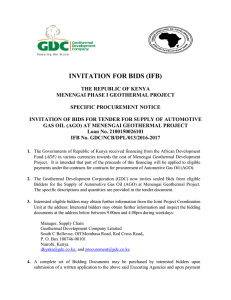 invitation for bids (ifb) - African Development Bank