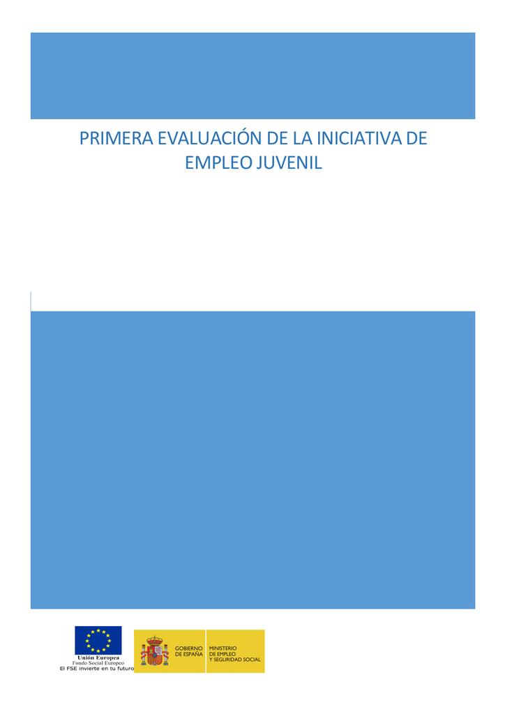 Calendario Escolar Galicia 2020 19.Primera Evaluacion De La Iniciativa De Empleo Juvenil