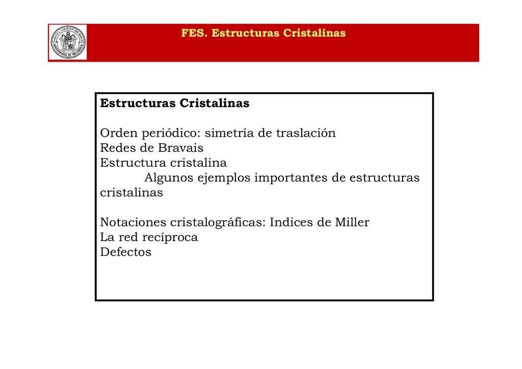 02 Estructuras Cristalinas Red Directa Y Reciproca Modo De