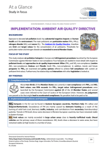 Implementation of thr Ambient Air Quality Directive