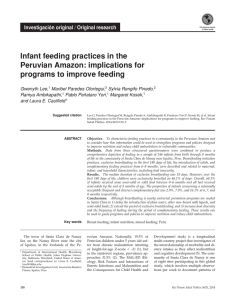 Infant feeding practices in the Peruvian Amazon: implications for