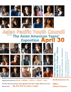 Yellow: Where we can be, An Anthology of the Asian American