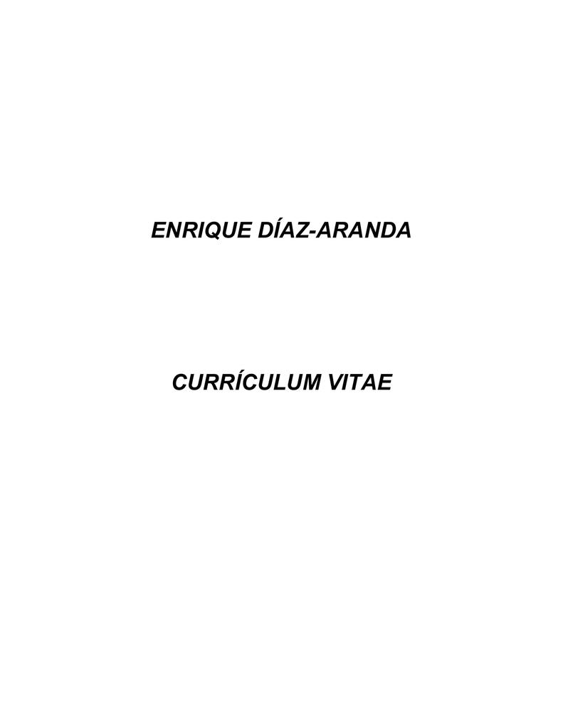 Curriculum - Dr. Enrique Díaz