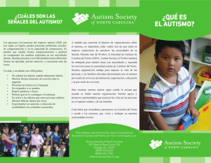 ¿qué es el autismo? - Autism Society of North Carolina