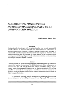 el marketing politico como instrumento metodológico de la