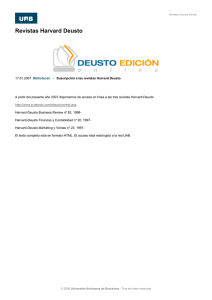 Revistas Harvard Deusto