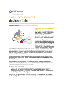 Los cinco secretos de Steve Jobs