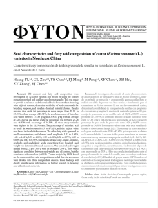 Seed characteristics and fatty acid composition of castor (Ricinus