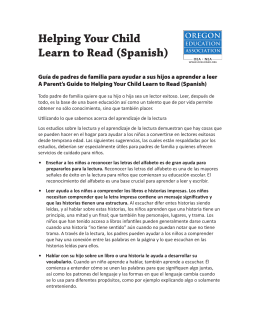 Helping Your Child Learn to Read (Spanish)