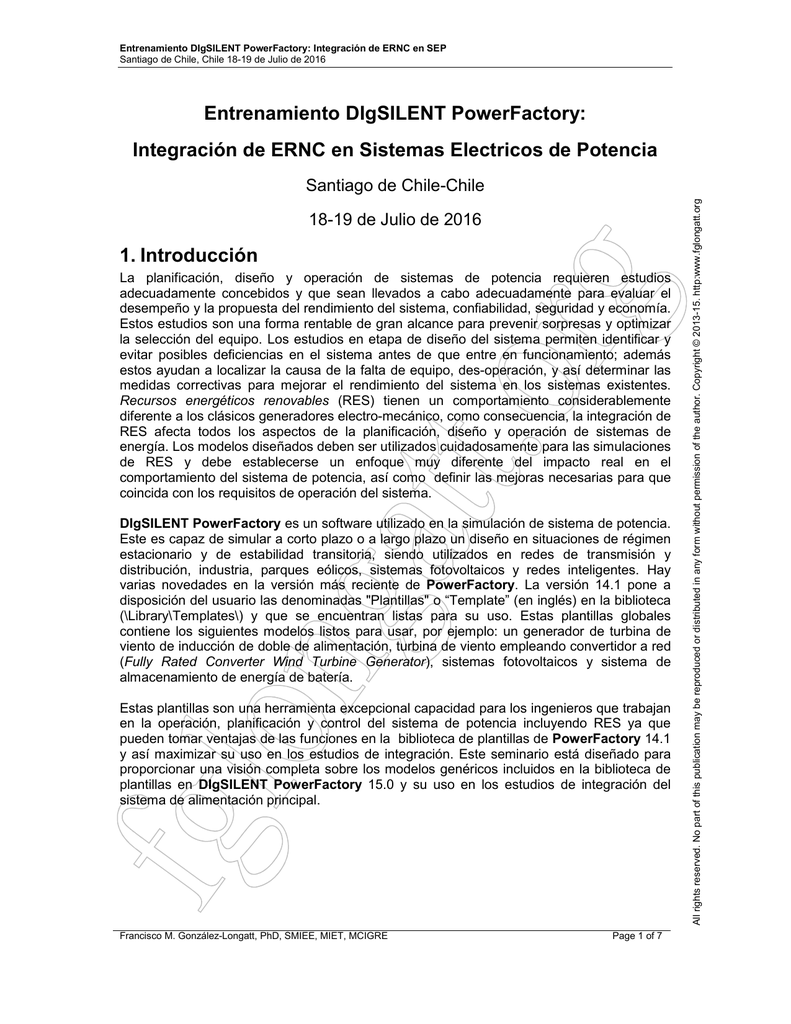 Entrenamiento DIgSILENT PowerFactory