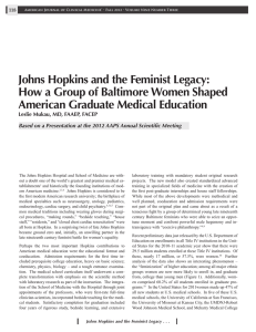 Johns Hopkins and the Feminist Legacy