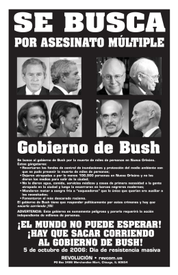 Gobierno de Bush - World Can`t Wait