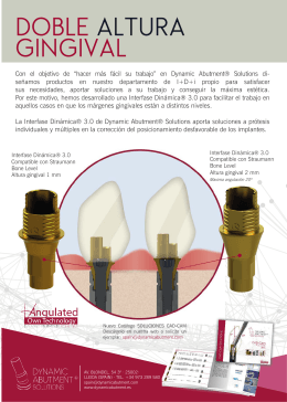 DOBLE ALTURA GINGIVAL - Dynamic Abutment Solutions ES