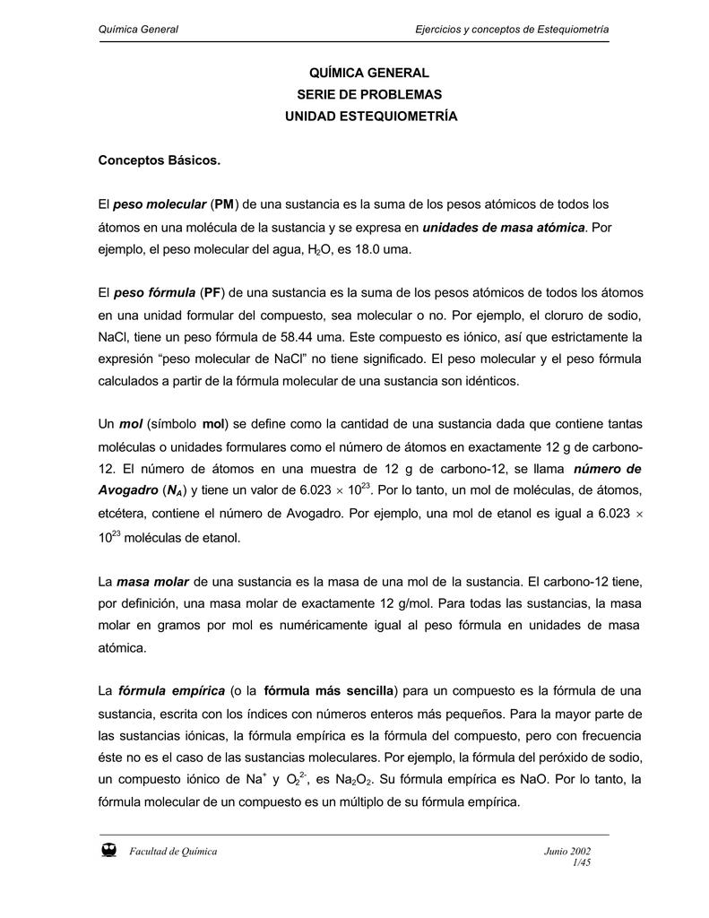 Excepcional Conversiones Molares Hoja Respuestas Colección - hojas ...