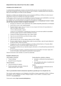 requisitos para solicitar visa del caribe