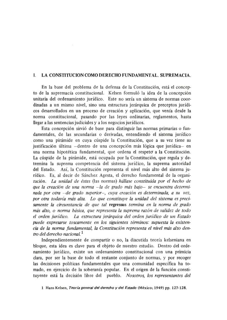I La Constitucion Como Derecho Fundamental