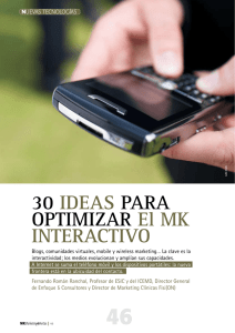 30 IDEAS PARA OPTIMIZAR El MK INTERACTIVO