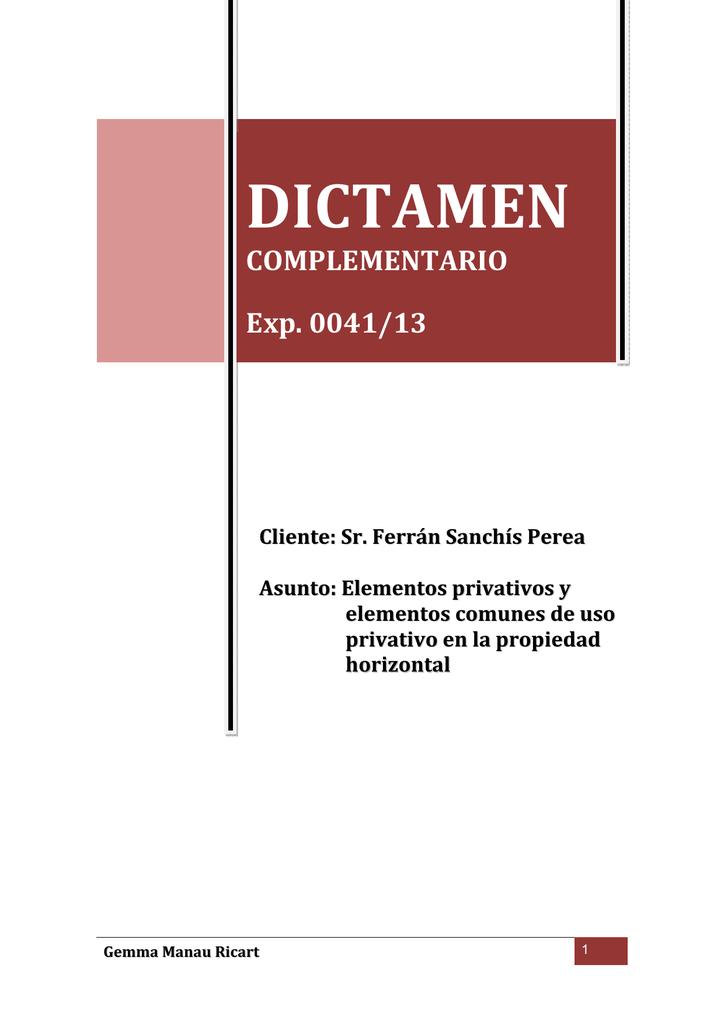 Conclusión Del Dictamen Anterior