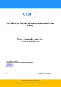Confederación Europea de Sindicatos Independientes