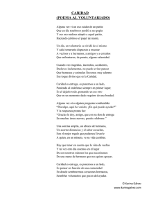 caridad (poema al voluntariado)