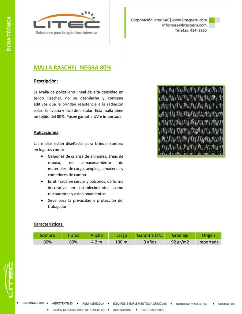 92610bbaccb1 malla raschel negra 80%