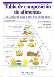 Tabla de composición general de los alimentos