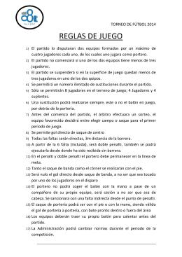 Reglas Juego Futbol Indoor