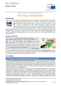 TTIP: Public procurement - European Parliament
