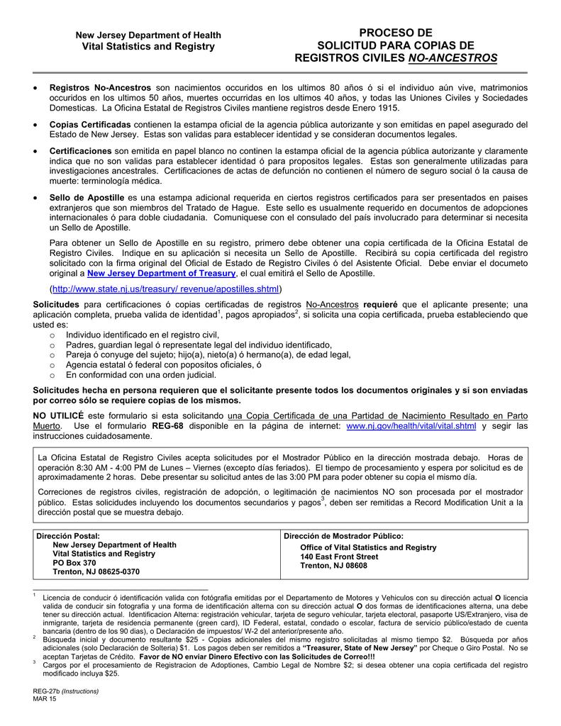 Excepcional Formulario De Solicitud De Certificado De Nacimiento ...