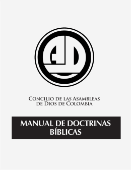 manual de doctrinas bíblicas - Asambleas de Dios de Colombia