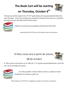 The Book Cart will be starting on Thursday, October 8 th