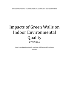 Impacts of Green Walls on Indoor Environmental Quality