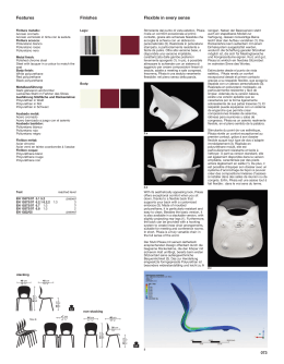 Features Finishes Flexible in every sense