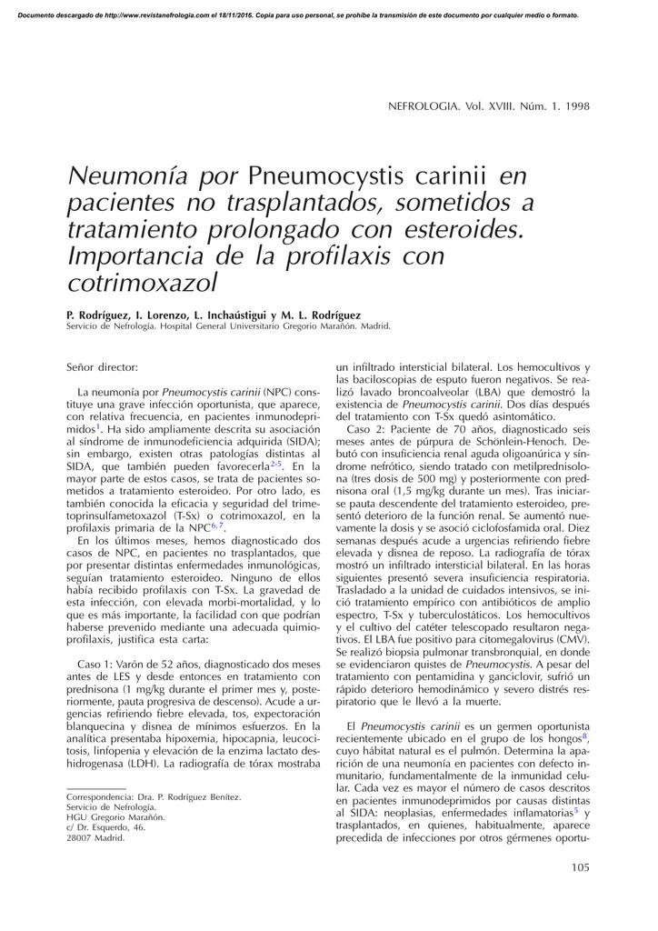 En ingles inmunodeprimidos pacientes