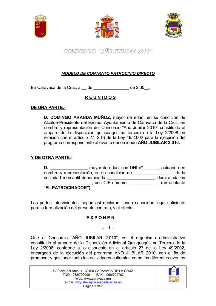 Modelo Contrato Patrocinio Directo