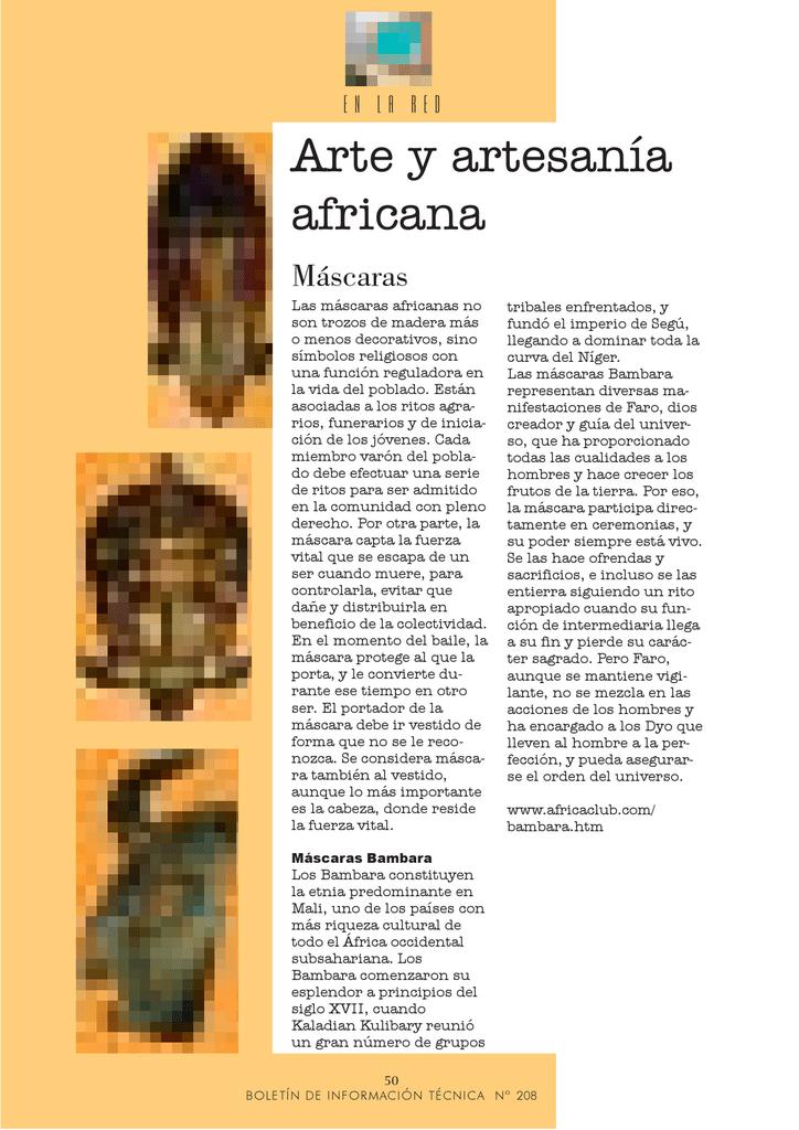 Arte Y Artesanía Africana