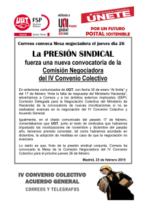 La PRESIÓN SINDICAL
