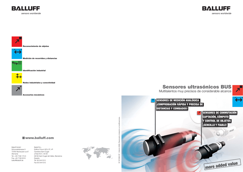 Sensores ultrasónicos BUS