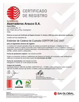 Aserraderos Arauco SA - TruChoice, The Best Choice for Moulding