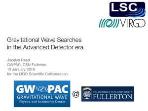 Gravitational Wave Searches in the Advanced Detector era