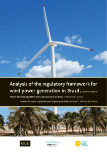 ABEEólica - Analysis of the regulatory framework for wind power