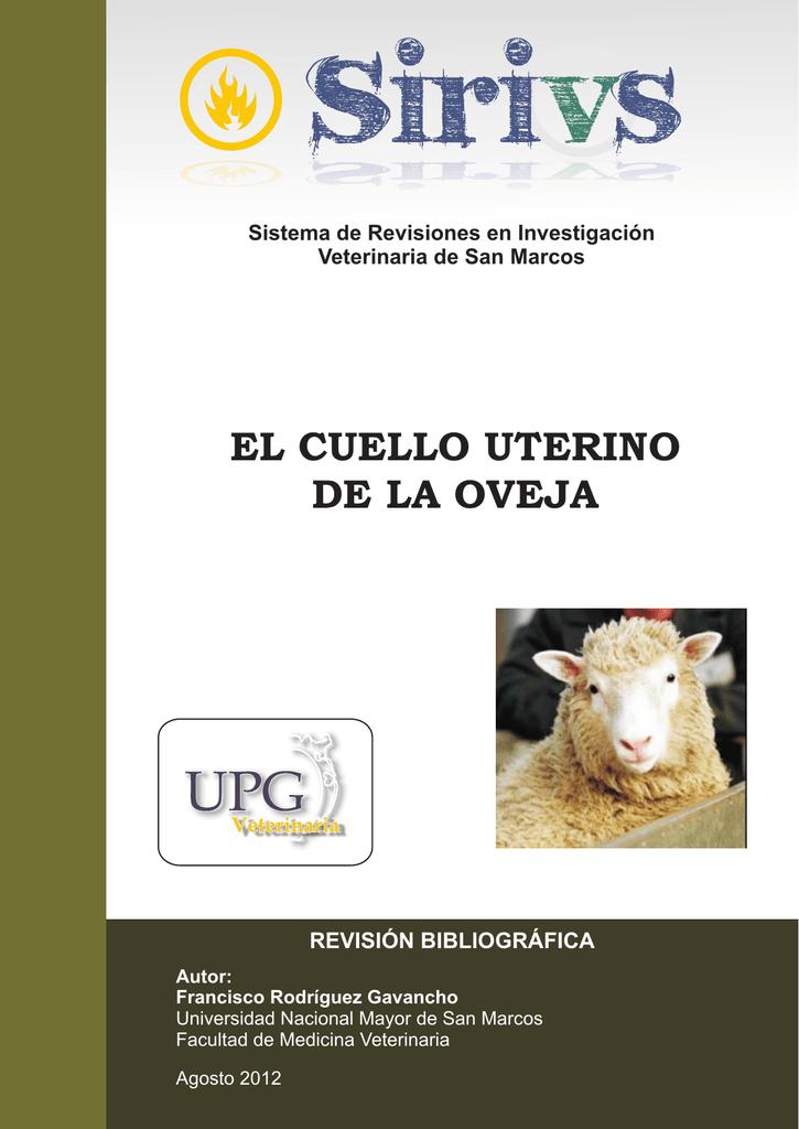 el cuello uterino de la oveja - Facultad de Medicina Veterinaria