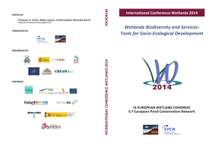 Wetlands Biodiversity and Services: Tools for